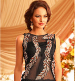 MARVELOUS BLACK GOWN WITH SUPERB DESIGNING AT INCREDIBLE RATE