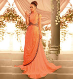 CLASSY FLOOR LENGTH EUROPEAN STYLE EVENING MARRIAGE PARTY WEAR GOWN