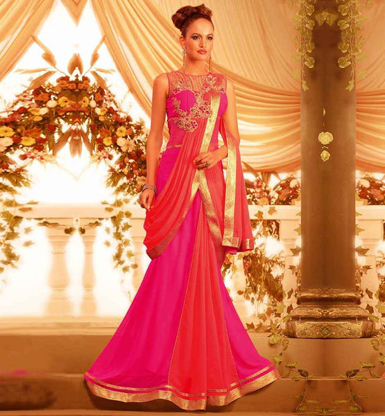 DAZZLING INDO WESTERN FUSION GOWN AT BEST RATE WITH CASH ON DELIVERY