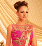 INDO WESTERN COMBINATION DUAL TONE GOWN