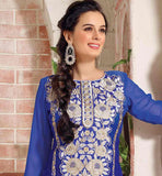 BLUE PARTY WEAR SALWAR SUIT RTTAN105 STYLISHBAZAAR ONLINE SHOPPING WEBSITE