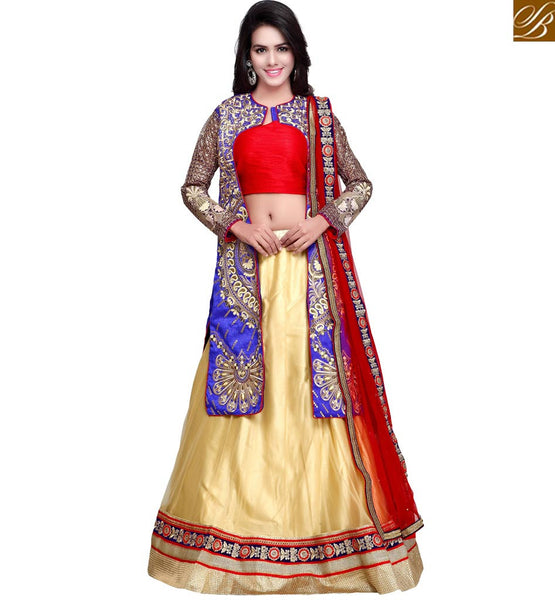 STYLISH BAZAAR JACKET STYLE HEAVILY DESIGNED GHAGHRA CHOLI RTCTR105