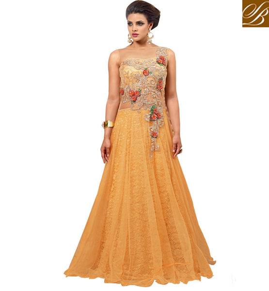LONG WEDDING GOWNS ONLINE SHOPPING INDIA DESIGNER PREMIUM NET MAXI