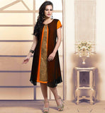 LADIES FANCY KNEE HEIGHT BAMBERG GEORGETTE KURTI BUY ONLINE INDIA