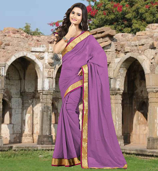 CHOLI BLOUSE DESIGNS CASUAL SAREES IN INDIA STYLISH PINK STONE WORK SAADI WITH LACE BORDER