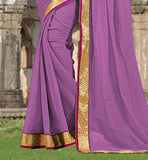 AWESOME CHIFFON FABRIC SARI WITH MATCHING BLOUSE  CHOLI BLOUSE DESIGNS CASUAL SAREES IN INDIA