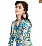 BROUGHT TO YOU BY STYLISH BAZAAR BEAUTIFUL BEIGE & BLUE COLORED FLORAL PRINTED COTTON KURTI VDFRY10678