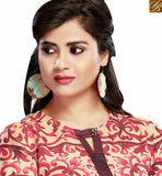A STYLISH BAZAAR PRESENTATION GORGEOUS PINK AND BEIGE COLORED FLORAL PRINTED COTTON KURTI VDFRY10679