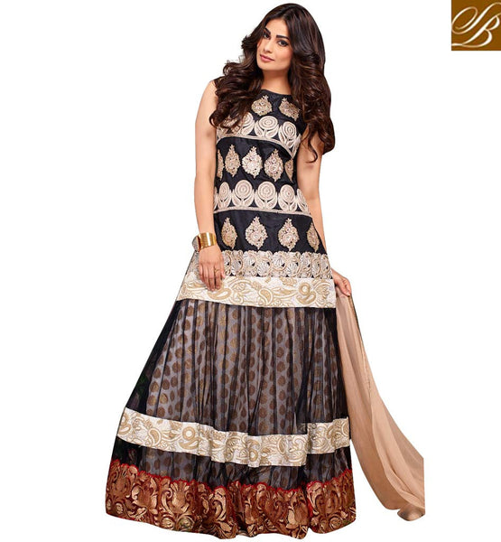 BOLLYWOOD LEHENGA CHOLI DESIGNS AT REASONABLE PRICE PUJA GUPTA INDIAN MOVIE CELEBRITY DESIGNER LENGHA WITH JACKET