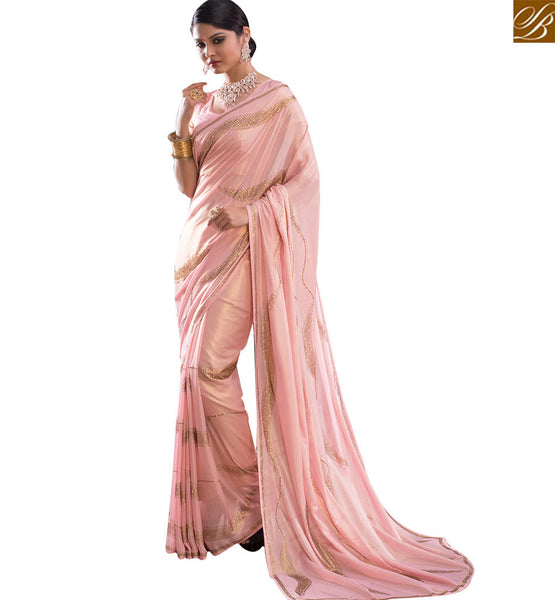 FROM THE HOUSE OF  STYLISH BAZAAR EXOTIC DESIGNER PARTY WEAR SARI RTBTQ106B