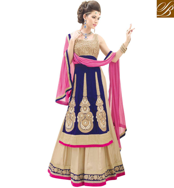 STUNNING DESIGNER 3PC BRIDAL WEAR LEHENGA CHOLI SUIT RTBU106
