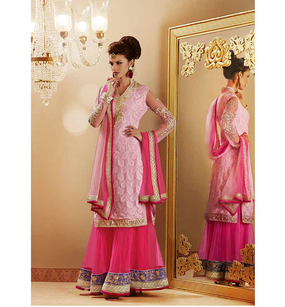 LOVELY PINK LEHENGA CHOLI LTNS106 - STYLISHBAZAAR - Lehenga Choli, Lehenga Cholis, Designer Lehenga Choli, Lehenga Cholis for Wedding, Wedding Lehenga Cholis