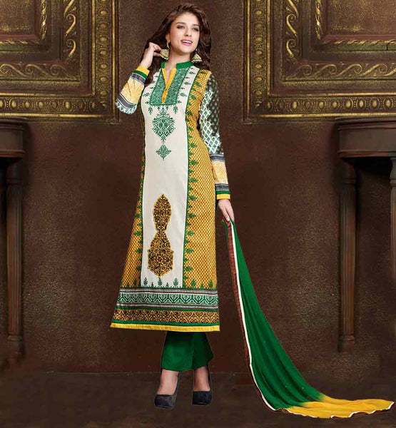 EVER STYLISH PUNJABI PRINTED COTTON SALWAR KAMEEZ SUIT DESIGNS 2015