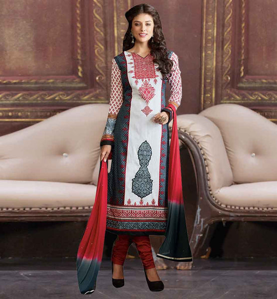 EVERSTYLISH EMBROIDERED COTTON PARTY WEAR PUNJABI SALWAR KAMEEZ