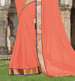 HIGHLIGHTED WITH ALL OVER STONE WORK AND LACE BORDER SAREE BLOUSE DESIGNS IMAGES FOR EASY SHOPPING