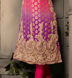 PINK AND VIOLET DESIGNER VISCOSE BUTTI SHALWAR KAMEEZ WITH DUPATTA CELEBRITY DRESSES SHOP ONLINE PARTY WEAR SALWAR SUIT