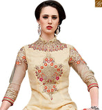 BROUGHT TO YOU BY STYLISH BAZAAR GORGEOUS BEIGE & MULTI COLORED NAJNEEN SALWAR SUIT VDSHB10716