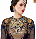 STYLISH BAZAAR INTRODUCES ATTRACTIVE NAVY BLUE COLORED INDIAN DESIGNER SALWAR SUIT VDSHB10719