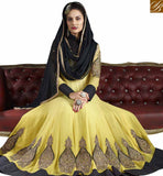 FROM STYLISH BAZAAR GORGEOUS YELLOW & BLACK COLORED DESIGNER SALWAR KAMEEZ VDJSE10732