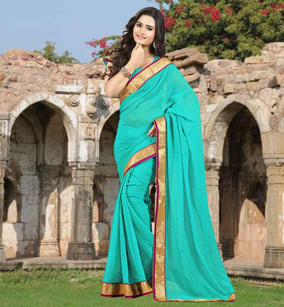 BLOUSE DESIGNS SAREE IMAGES WITH LACE BORDER AWESOME NEW SARI COLLECTION FROM STYLISH BAZAAR FOR MODERN INDIAN LADIES