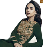 FROM STYLISH BAZAAR GLAMOROUS GREEN COLORED PLAZZO STYLE SALWAR SUIT VDNRA10766