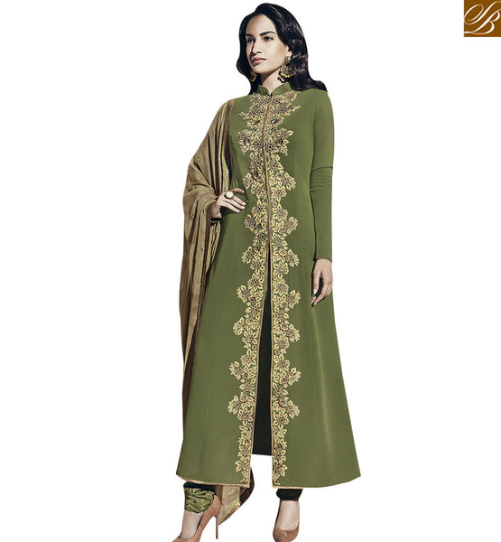 STYLISH BAZAAR SPLENDID GREEN COLORED DESIGNER SALWAR SUIT VDNRA10771
