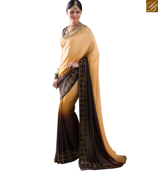 STYLISH BAZAAR ATTRACTIVE EMBROIDERED SAREE BLOUE DESIGN RTBTQ107A