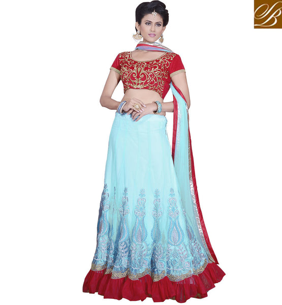 NET LEHENGA WITH VELVET CHOLI LOW PRICE SHOPPING FREE COD IN INDIA