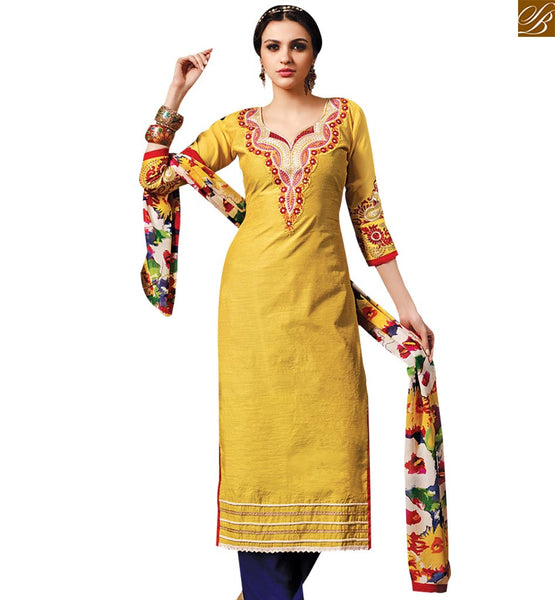 STRYLISH BAZAAR TRENDY YELLOW COLORED DESIGNER SALWAR KAMEEZ RTSRH107