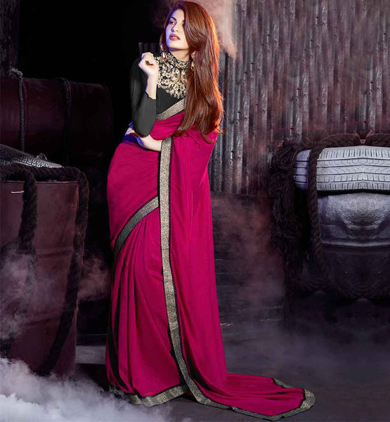 SAREE DESIGN 2015 LATEST TRENDS CELEB BLOUSE PATTERNS JACQUELINE