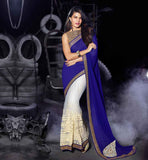 SAREE DRAPING STYLES OF JACQUELINE IN EMBROIDERED CELEBRITY BLOUSE PATTERNS LATEST FASHION PARTY WEAR COLLECTION FOR BOLLYWOOD CELEBRITY