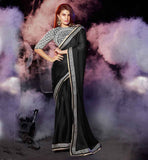 IMAGE OF LATEST SAREE TRENDS 2015 CELEB BLOUSE STYLES JACQUELINE FERNANDEZ