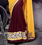 SHOP ONLINE SARI WITH BLOUSE AND RICH BORER