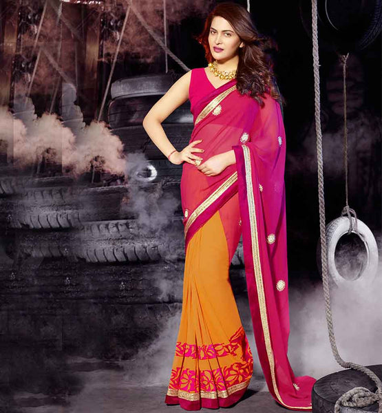 IMAGE CELEBRITY SAREE BLOUSE DESIGNS 2015 INSPIRED FROM THE LATEST MOVIE