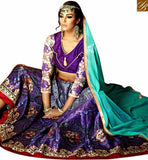 BROUGHT TO YOU BY STYLISH BAZAAR ATTRACTIVE PURPLE COLORED DIGITAL PRINTED DESIGNER LEHENGA CHOLI VDKLR10884