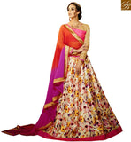 STYLISH BAZAAR GLITTERING MULTI COLORED LEHNGA CHOLI WITH EYE CATCHING DIGITAL PRINT VDKLR10885