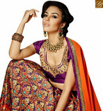 STYLISH BAZAAR INTRODUCES ULTIMATE PURPLE COLORED DESIGNER LEHENGA CHOLI WITH SPLENDID DIGITAL PRINT VDKLR10887