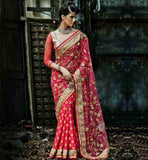 BLOUSE DESIGN LATEST NET & JACQUARD WEDDING SAREES ONLINE SHOPPING