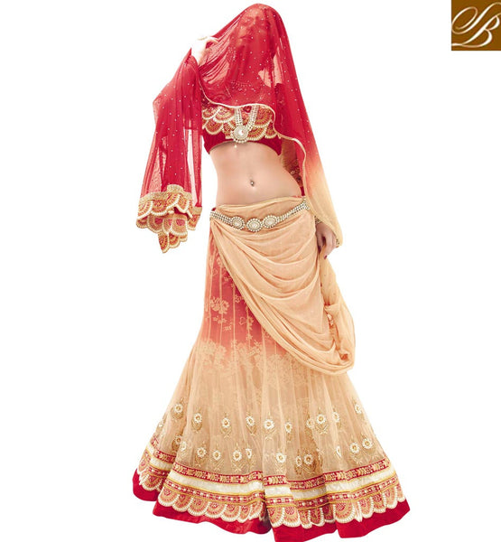 AWESOME DESIGNER 3PC BRIDAL WEAR LEHENGA CHOLI SUIT RTBU108