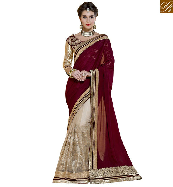 BROUGHT TO YOU BY STYLISH BAZAAR MESMERIC PARTY WEAR DESIGNER SAREE BLOUSE DESIGN RTANT108