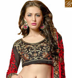 RED AND BLACK GHAgRA CHOLI DUPATTA DRESS