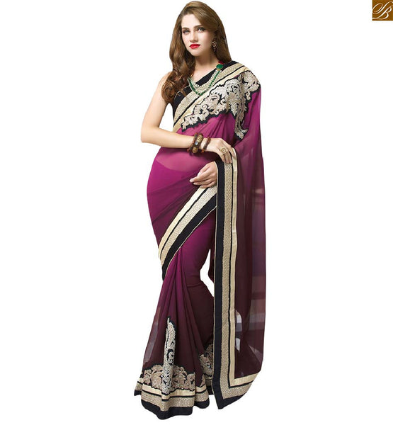 STYLISH BLOUSE DESIGN WITH GEORGETTE DESIGNER SAREES ONLINE HSOC10901