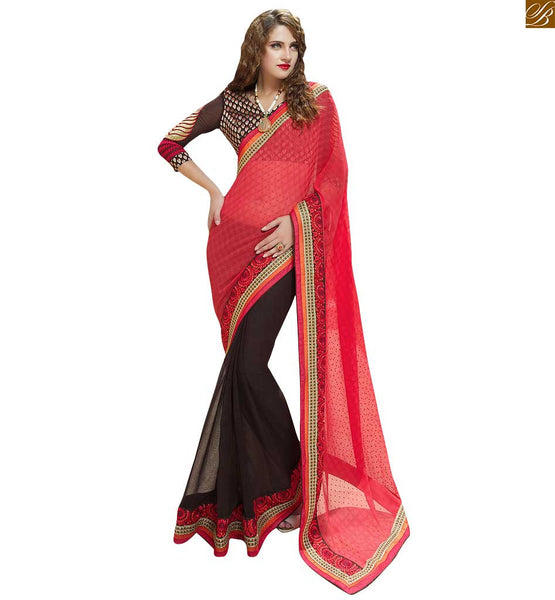 DESIGNER HALF SAREE LATEST DESIGNS COMBINATION OF BLOUSE PATTERNS | SPLENDID DESIGNER HALF SAREE WITH LATEST DESIGNS WITH EYE-CATCHING COMBINATION WITH HOT BLOUSE PATTERNS