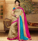 CREAM ART-SILK CASUAL WEAR SAREE RTMS10921