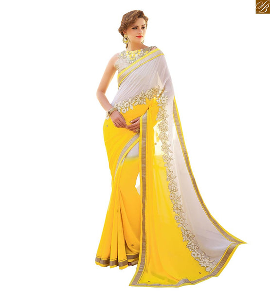 BLOUSE BACK DESIGN AND NECK PATCH WORK PAIRED WITH DESIGNER SAREES COLLECTION | STUNNING PATTERNED BLOUSE BACK DESIGN AND NECK PATCH WORK AND FAUX GEORGETTE DESIGNER SAREES COLLECTION OF CURRENT FASHION TREND