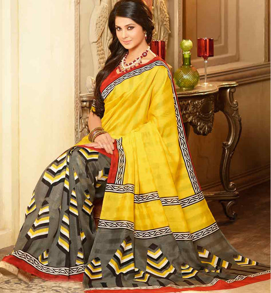 STRIKING ART-SILK CASUAL WEAR SAREE RTMS10927