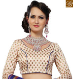 DESIGNER CREAM LEHENGA CHOLI WITH CONTRAST DUPATTA