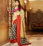 CREAM ART-SILK CASUAL WEAR SAREE RTMS10950
