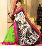 EYE-CATCHING ART-SILK CASUAL WEAR ESHA DEOL SAREE RTMS10956