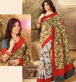 LOVELY ART-SILK CASUAL WEAR SAREE RTMS10957